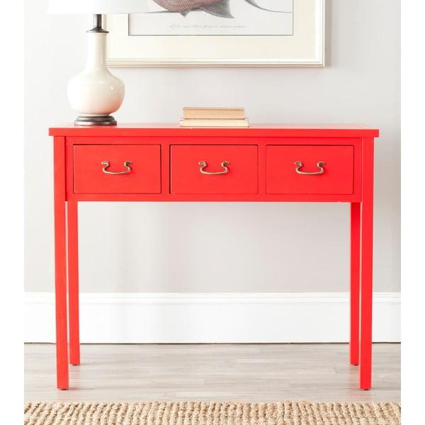 Červený odkládací konzolový stolek Safavieh Riley