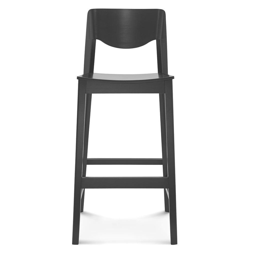 Černá barová dřevěná židle Fameg Ingred