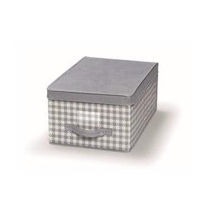 Šedý uložný box s víkem Cosatto De Poule,30x45cm