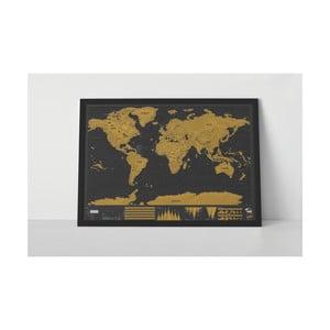 Seškrabávací mapa světa Luckies of London Deluxe Edition XL