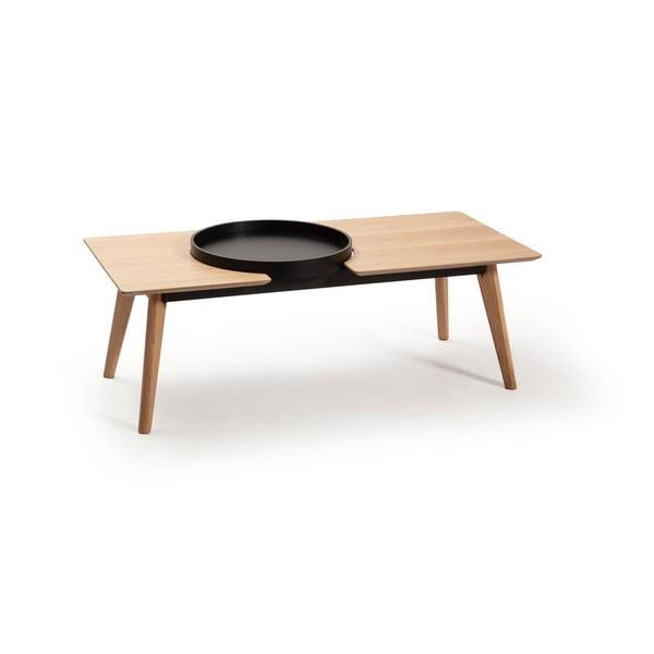 Brązowy stolik z nogami z drewna dębowego Marckeric India