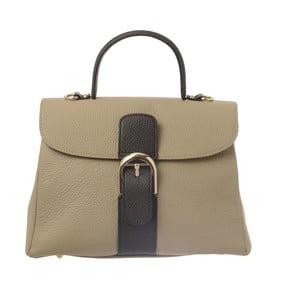 Béžovošedá kožená kabelka Tina Panicucci Shool