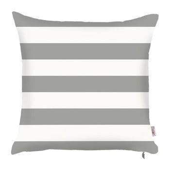 Față de pernă Apolena Stripes, 43 x 43 cm, gri alb de la Apolena