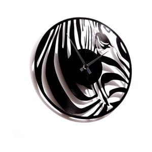 Vinylové hodiny Zebra