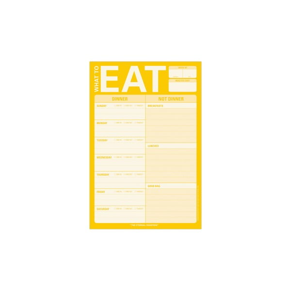 Úkolníček na plánování jídel What To Eat