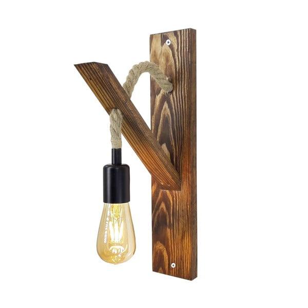 Dřevěné nástěnné svítidlo Aplik