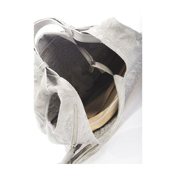 Šedá kožená kabelka Massimo Castelli Jamilyn