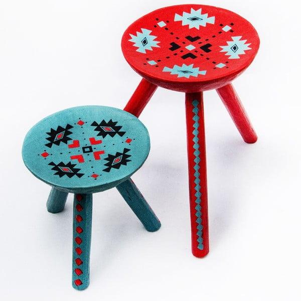 Sada 2 ručně malovaných stoliček Sadova