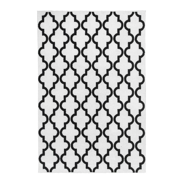 Černobílý koberec Obsession My Black & White Faw Whit, 80 x 150 cm