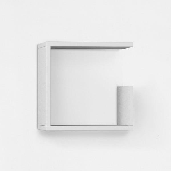 Nástěnná police Geo 34x34 cm, bílá