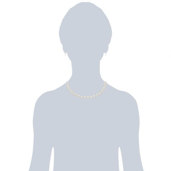 Perlový náhrdelník Muschel, bílé perly ⌀ 0,8 x délka 40cm
