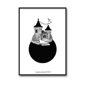 Autorský plakát Slottsplaneten, 30x40 cm