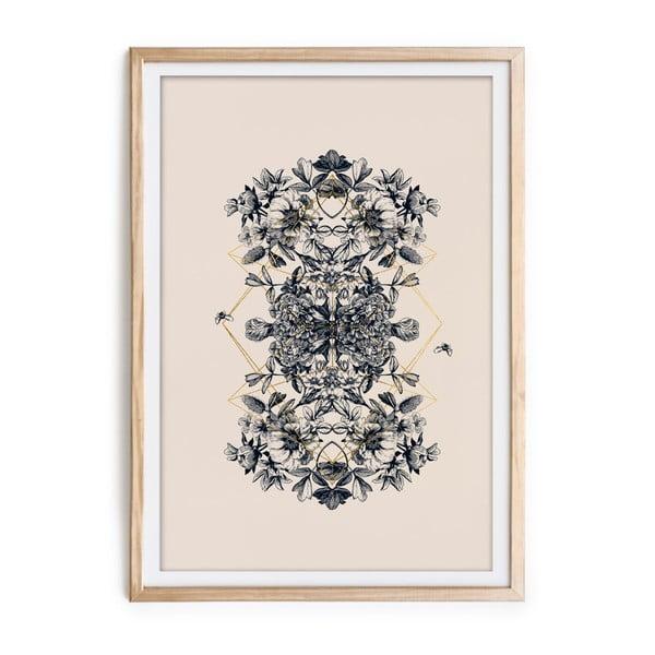 Botanical keretezett kép, 60 x 40 cm - Velvet Atelier