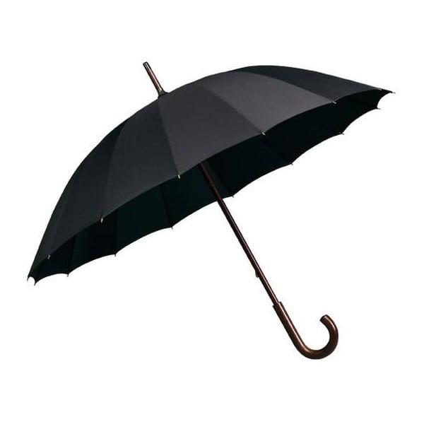 Černý holový deštník Elegance, ⌀102cm
