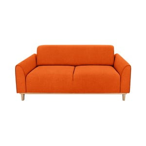 Oranžová dvojmístná pohovka Kooko Home Jazz