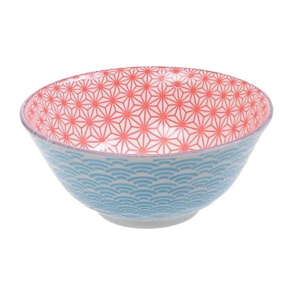 Star kék-pirod porcelántálka, ø15,2cm - Tokyo Design Studio