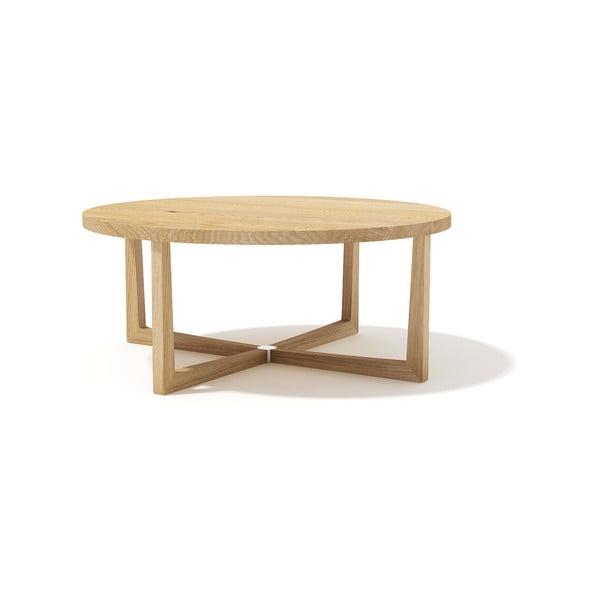 Konfereční stolek z masivního dubového dřeva Javorina Xstar, průměr 90cm