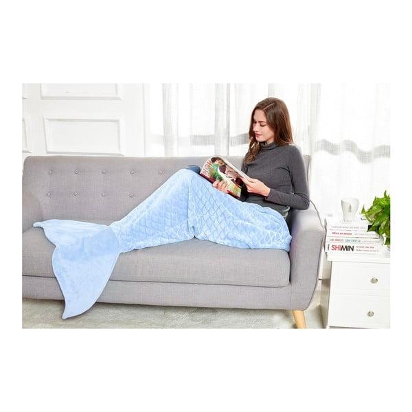 Modrá deka z mikrovlákna DecoKing Siren, 140cm