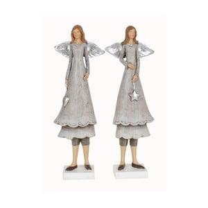 Sada 2 dekorativních sošek Ewax Angels