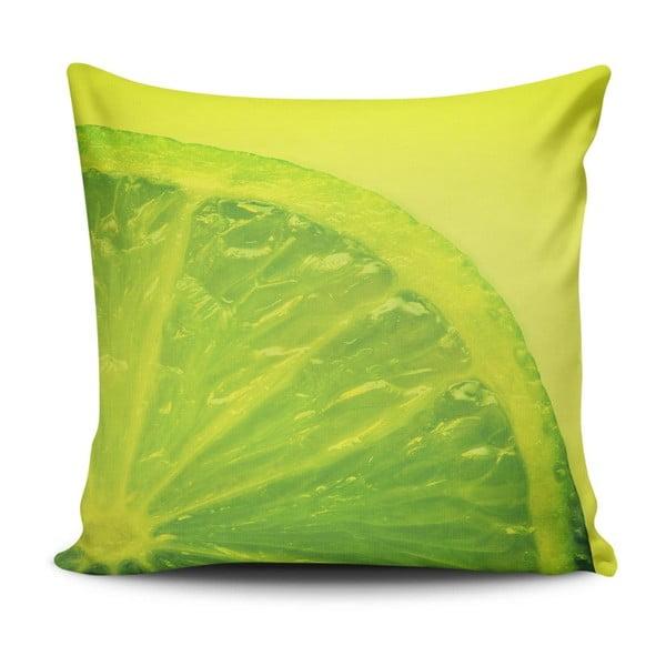 Polštář s příměsí bavlny Cushion Love Verde, 45 x 45 cm