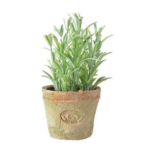 Umělá květina v terakotovém květináči Esschert Design Rozmarýn, výška 10,5 cm