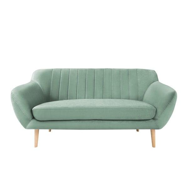 Sardaigne mentol zöld 2 személyes kanapé világos lábakkal - Mazzini Sofas