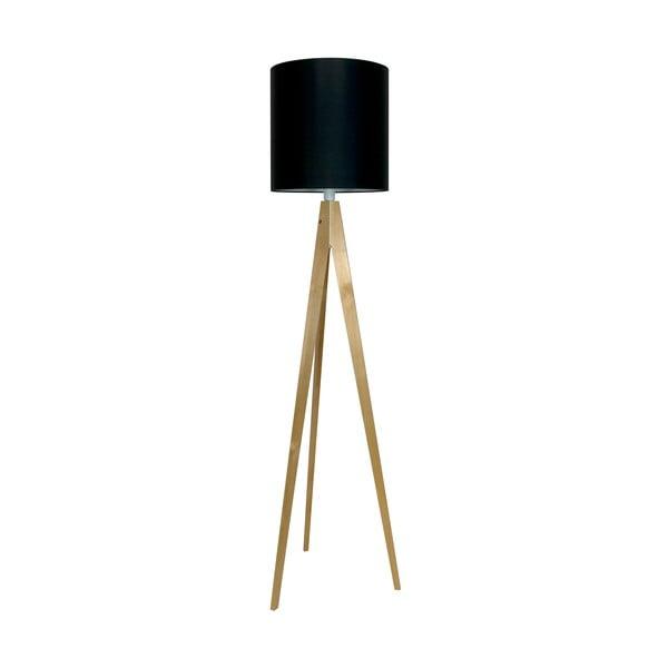 Stojací lampa Artist Black/Birch, 125x33 cm