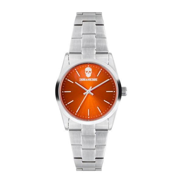 Oranžovo-stříbrné hodinky Zadig & Voltaire Simplicity