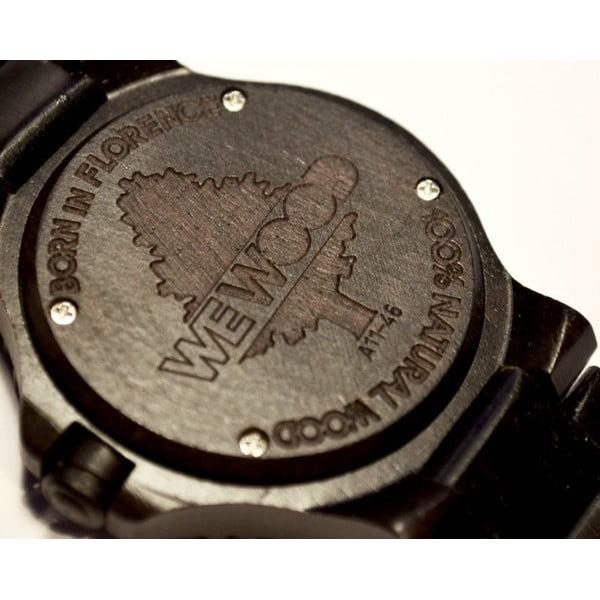Dřevěné hodinky Date Black