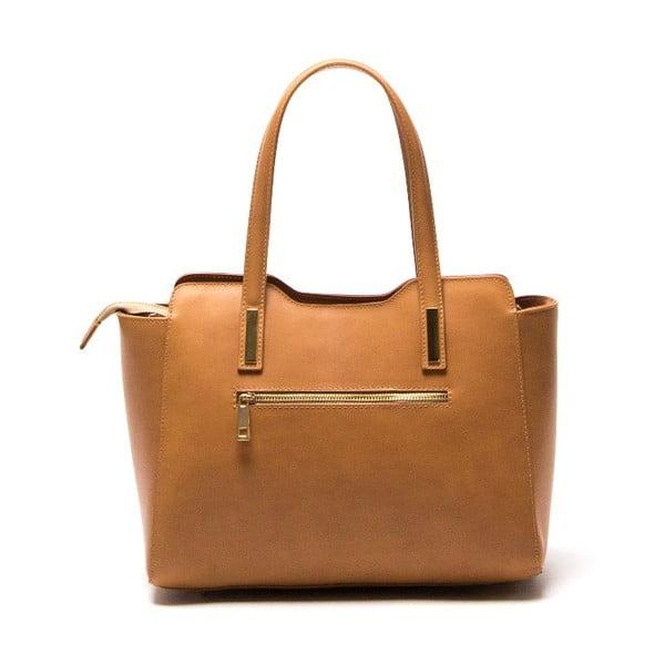 Kožená kabelka Luisa Vannini 3007 Cognac
