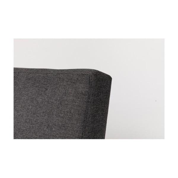 Tmavě šedá rozkládací pohovka s šedými nohami loomi.design Ozzie