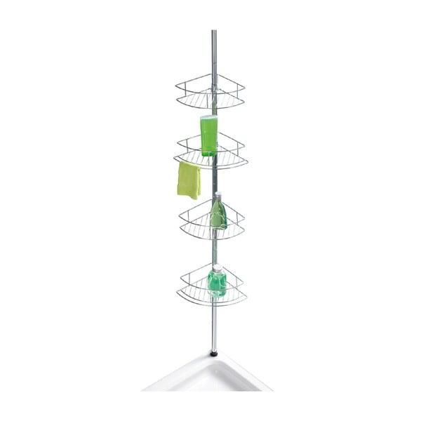 Teleskopowa narożna półka prysznicowa Wenko Prea Dolcedo, 23x31 cm