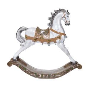 Keramický dekorativní houpací koník Ewax, výška 47,5cm