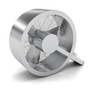 Stříbrný podlahový větrák Stadlerform Q