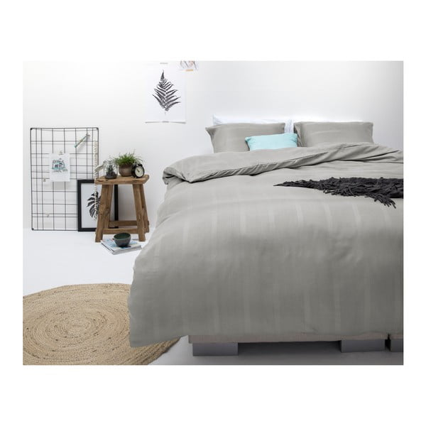 Šedé povlečení na dvoulůžko z mikroperkálu Sleeptime Satin Montreal,240x220cm