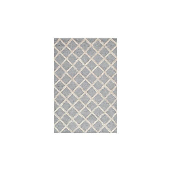 Vlněný koberec Sophie 91x152 cm, šedý