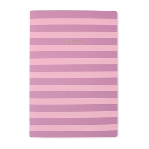 Notes A4 GO Stationery Lilac Stripe