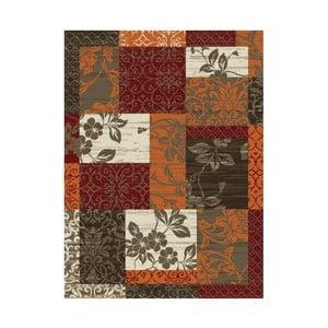 Oranžovo-hnědý koberec Hanse Home Prime Pile Flower, 110x60cm