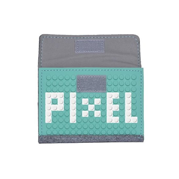 Pixelová peněženka grey/aqua green