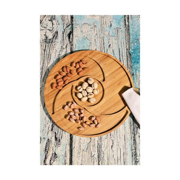 Bambusový podnos Kutahya Snacks Round, Ø 32,2 cm