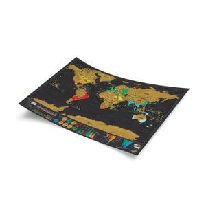 Seškrabávací mapa světa Luckies of London Travel Deluxe