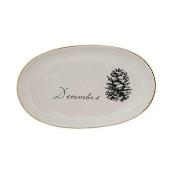 Farfurie din gresie ceramică Bloomingville Maria, ⌀ 20 cm, alb