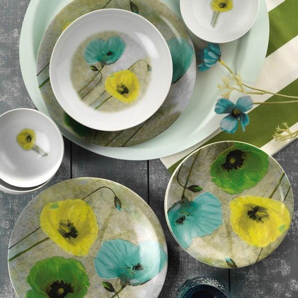 24-częściowy zestaw talerzy porcelanowych Kutahya Giuno