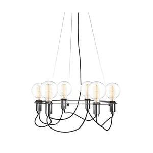 Černé závěsné svítidlo GlobenLighting Cables