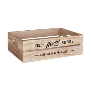 Dřevěný úložný box na zeleninu Premier Housewares Farmers Market, 28 x 38 cm