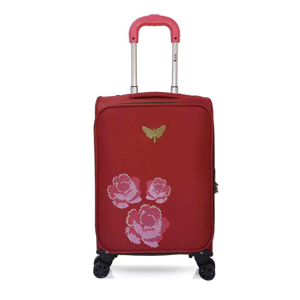 Červené kabinové zavazadlo na 4 kolečkách LPB Joanna, 40 l