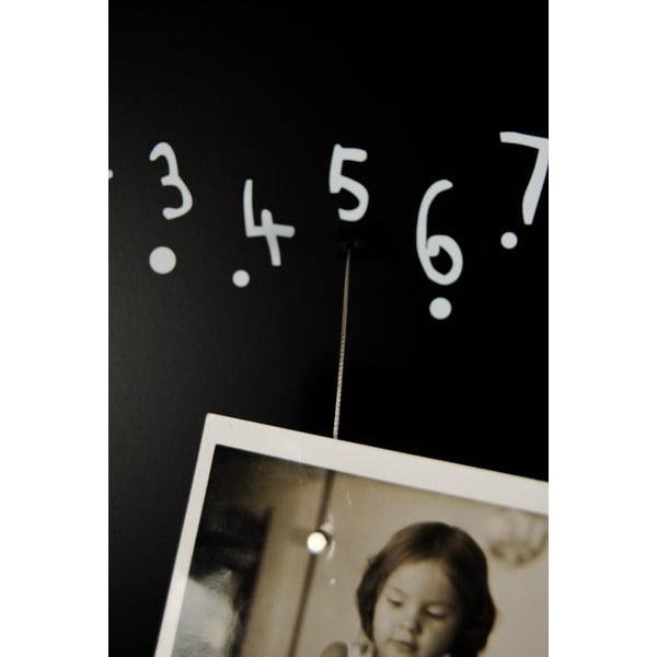 Magnetický kalendář Krok Black, 100x30 cm