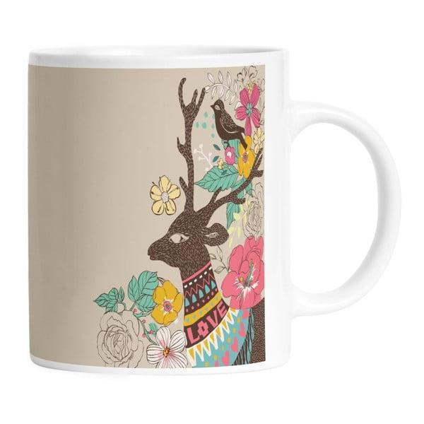 Keramický hrnek Well Dressed Deer, 330 ml
