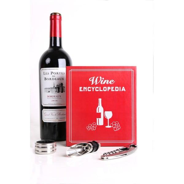 Set pentru vin în cutie de cadou Kikkerland Book Wine