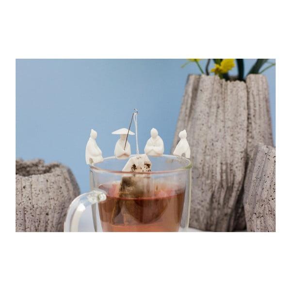 Sada 4 držáků na čajový pytlík Kikkerland Fisherman